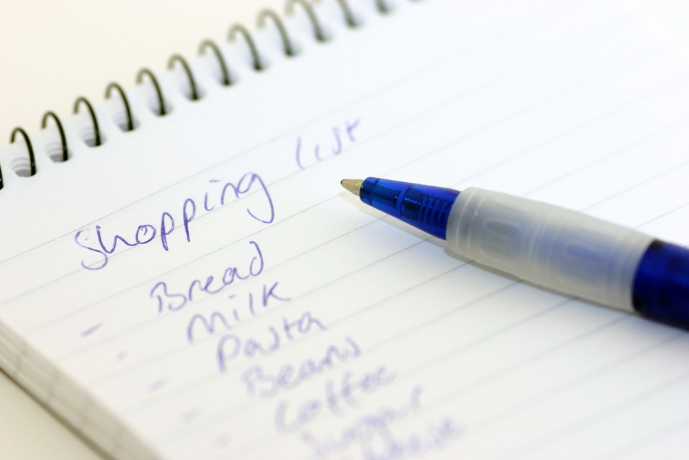 Freshers Week 2014 Shopping List