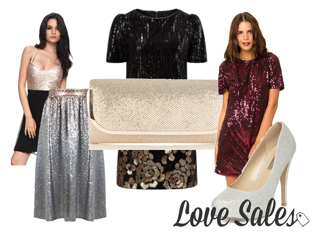 glitter outfits, glitter dress, sequin dress, love sales