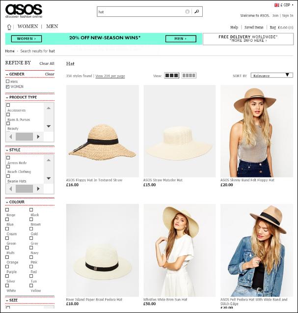 ASOS Hats