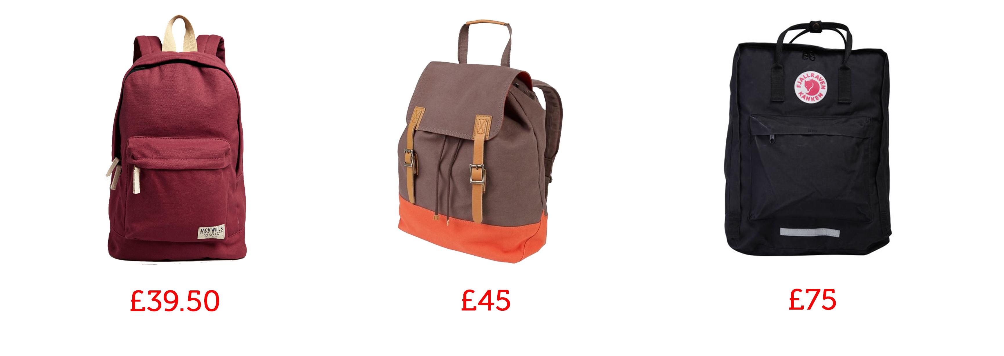 rucksacks backpacks man bags fatface jack wills mybag