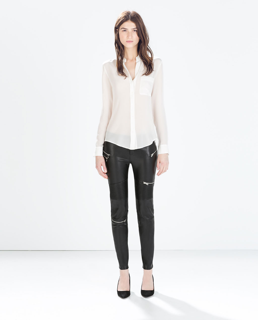 zara leather trousers
