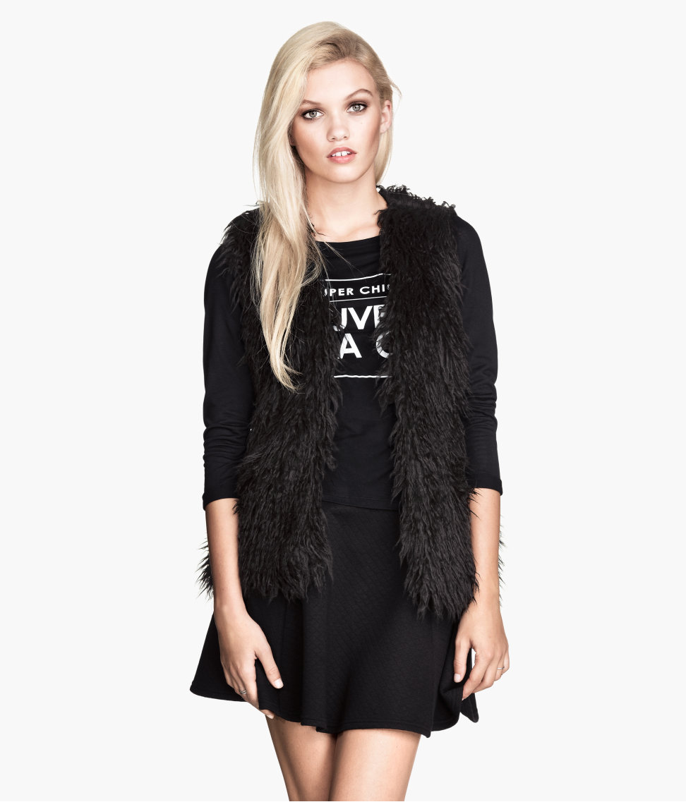 faux fur h&m