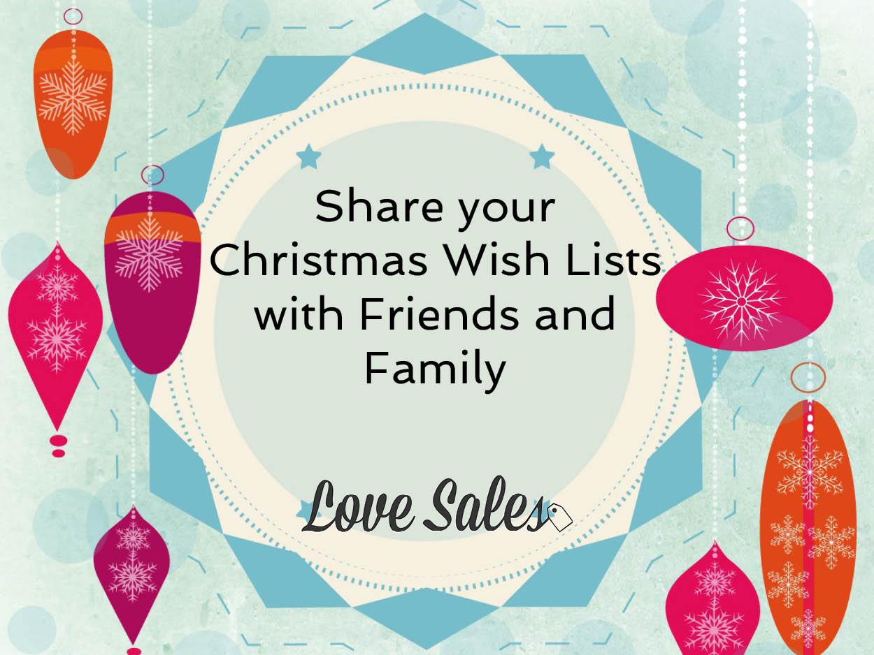 christmas list, christmas wish list, wishlist, lovesales. share lists