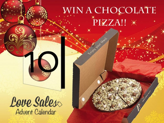 lovesales, chocolate pizza, christmas competition. adventgiveaway, win chocolate, christmas chocolate, advent competition