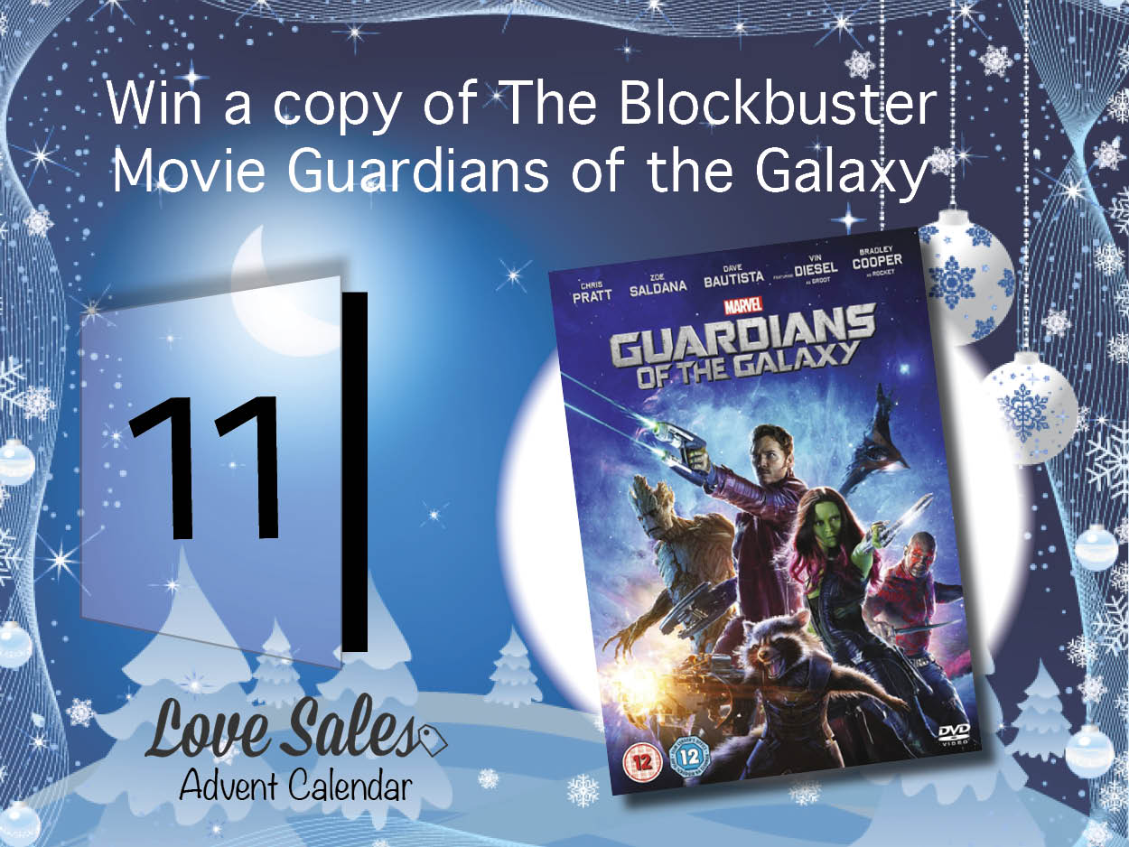 guardians of the galaxy, guardians of the galaxy dvd, adventgiveaway, advent competition, lovesales, dvd sales, cheap dvds, new dvds