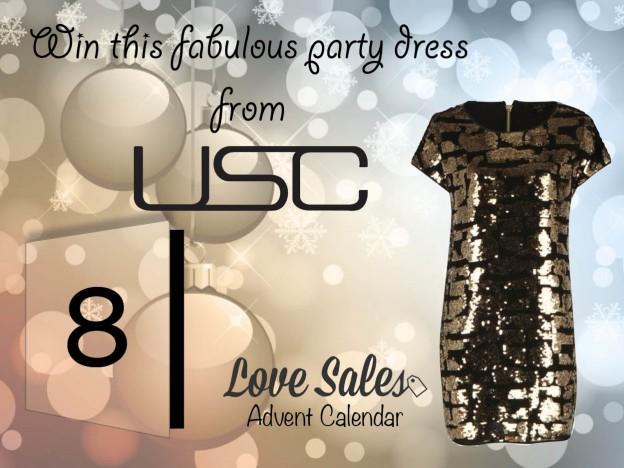 lovesales, USC, womens party dresses, USC sale, party dress sale, gold party dress, sequin party dress, sparkly party dress
