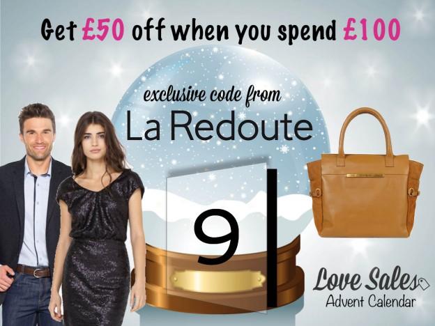 lovesales, la redoute advent calendar, la redoute code, la redoute promotional code, la redoute discount code